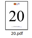 Printable Flash Card Number 20 Large